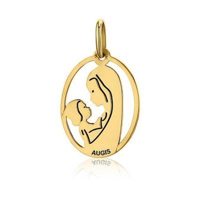 """Médaille ovale de la """"Vierge à l'enfant"""" AUGIS"""
