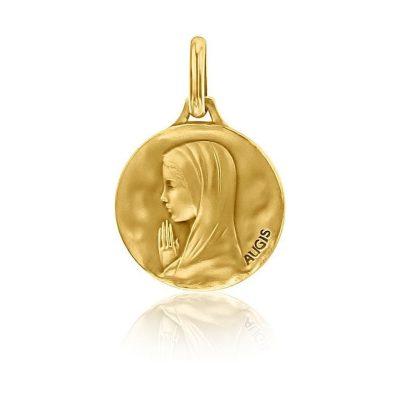 """Médaille ronde de """"la Vierge  aux mains jointes"""" AUGIS"""