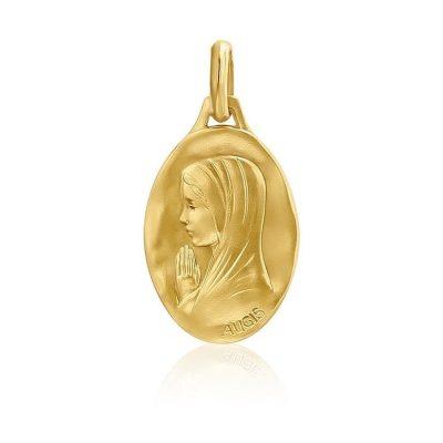 """Médaille ovale de """"la Vierge au voile"""" AUGIS"""