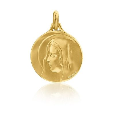 """Médaille ronde de """"la Vierge au voile"""" AUGIS"""