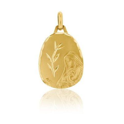 """Médaille ovale de """"la Vierge à l'enfant"""" AUGIS"""
