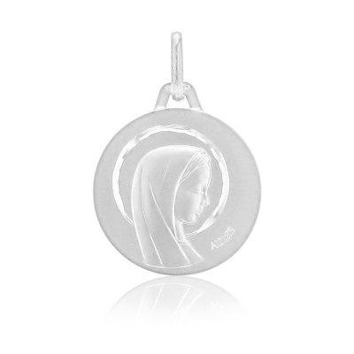 Médaille ronde de la Vierge au voile AUGIS