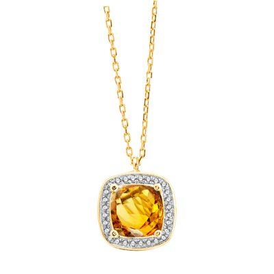 Collier Citrine, diamants et or jaune