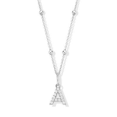 Collier Initiale A Argent