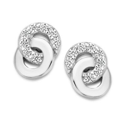 Boucles d'oreilles Femme Argent et Oxyde