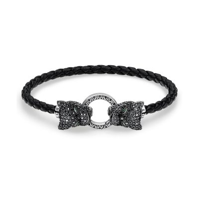 Bracelet Cuir Black Cat